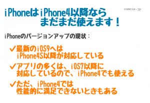 iPhoneはiPhone4以降ならまだまだ使えます!