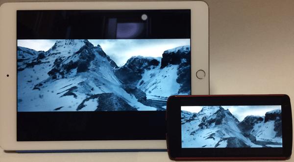 5インチのスマホと10インチのタブレットでは、画面サイズは4倍違います。その分だけ迫力も違ってきます。