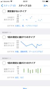 iOS「経過メモ」の履歴タイプは3つ